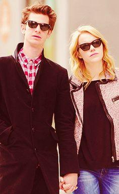 Emma Stone and Andrew Garfield <3