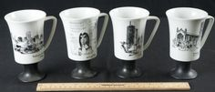 FINE PORCELAIN CHINA COFFEE CUPS BY SEYEI - MADE IN JAPAN.