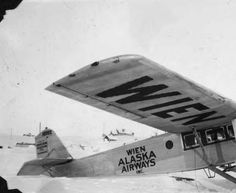Airplane on snow - University of Alaska Fairbanks: Hamilton Metalplane H-45 (Reg10002,Ser53) built and sold to Wien Alaska Airways. Aircraft was destroyed in an accident of North Cape in Russia which killed Carl Ben Eielson and mechanic Earl Borland. #boeing #metalplane #vintage #vintageairplane #vintageaircraft #anitqueaircraft #Hamilton #wien #alaska #eielson #crash #10002