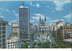 São Paulo em postais da década de 60 - SkyscraperCity Santa Helena, My Town, San Francisco Skyline, Brazil, New York Skyline, Retro Vintage, Nostalgia, Places To Visit, History