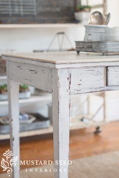 farmhouse white table