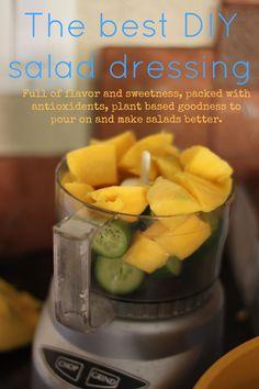 The best DIY salad dressing.  Mango & Cucumber- Tried this it was good.  Added a little salt & a splash of balsamic vinegar