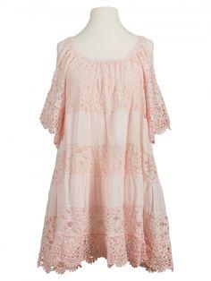 Damen Tunika Kleid aus Spitze, rosa von Montan bei www.meinkleidchen.de