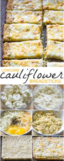 LOW-CARB CAULIFLOWER CRUST BREAD STICKS for lunch ideas, lunch meal prep, lunch recipes, lunch ideas work, lunch box ideas and lunch, bento, fun food idea #BREAD #lunch