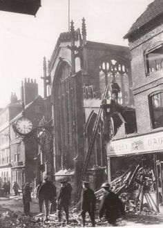 Coney Street, York, during World War 2