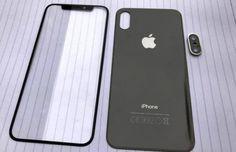 Fata, spatele si scheletul metalic al telefoanelor iPhone 8, iPhone 7S si 7S Plus fotografiate