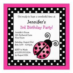 Awesome Pink and Black Birthday Invitations  Download this invitation for FREE at https://www.drevio.com/pink-and-black-birthday-invitations/