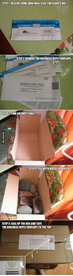 Junk mail prank.