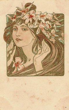 Alfons Mucha - Carte postale via Speziali