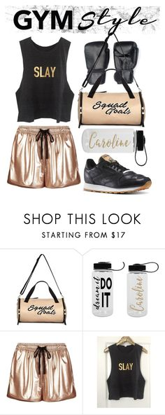 """""""Slay"""" by firesetter ❤ liked on Polyvore featuring Miss Selfridge, Sweaty Betty, Reebok, outfits, box, Boxing and gy"""