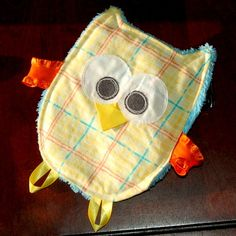 Crackle Tag Owl Baby Toy -- via etsy