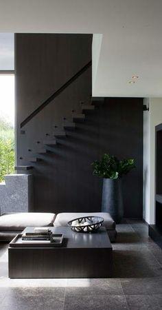 Classic black interior..