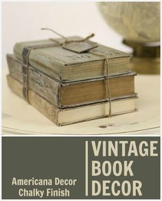 Create this project with Americana Decor® Chalky Finish™ — Revive olf books that have been ruined just add Chalky Finish and now you have a decor piece.