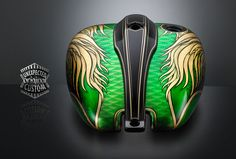 serbatoio moto custom green angel