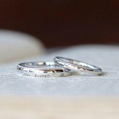 プラチナでおつくりしたミルグレインの結婚指輪(オーダーメイド/手作り)  ストレートな甲丸リングの淵にミルグレインを入れておつくりした結婚指輪。 [マリッジリング,marriage,wedding,ring,Pt900,ダイヤモンド,diamond]