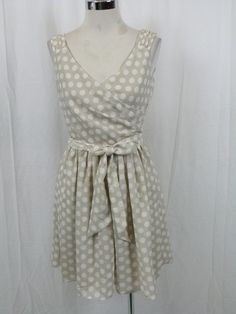 this is the dress i want but i cant find it anywhere in my size Express Surplice Top Polka Dots Sleeveless Dress Sz 12   eBay