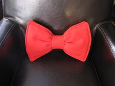 Bow Tie Pillow - Personalized - Custom - Geek Chic Home Decor. $25.00, via Etsy.