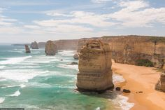 "The 12 Apostles is a collection of limestone stacks off the shore of the Port Campbell National Park, by the Great Ocean Road in Victoria, Australia. Unfortunately, there are only 8 remaining ""apostles,"" with the most recent stack collapse in 2005. Photo by Taylor Payne."