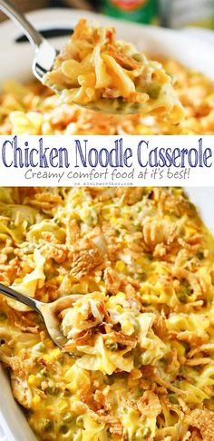 Easy family dinner ideas like Chicken Noodle Casserole are a great way to have c. Easy family dinner ideas like Chicken Noodle Casserole are a great way to have comfort food fast. Amazing chicken recipes like this are always a favorite! I love how quick Easy Casserole Recipes, Casserole Dishes, Quick Casseroles, Easy Dinner Casserole, Casseroles With Chicken, Summer Casseroles, Pasta Casserole, Egg Noodle Recipes, Zoodle Recipes