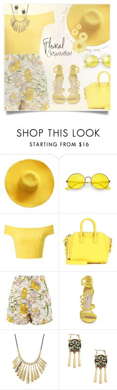 """#mysummerlook"" by liligwada ❤ liked on Polyvore featuring Ray-Ban, Miss Selfridge, Givenchy, Glamorous, Steve Madden and Lucky Brand"