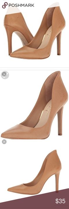 Nude pumps Only worn once! And for about 10 minutes during a photo shoot. Only flaw is a scuff on the front of the right toe (pictured) Jessica Simpson Shoes Heels