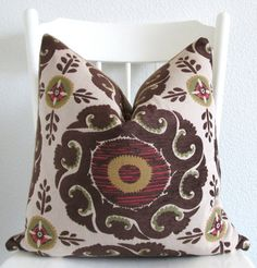 Decorative pillow cover Suzani pillow 18x18 by chicdecorpillows