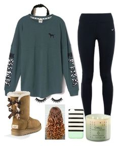 """Untitled #100"" by denisse-arellanoaguirre on Polyvore featuring Hollister Co., Victoria's Secret, NIKE, UGG Australia, Morphe and Kate Spade"