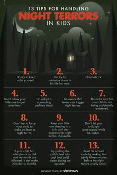 night terror tips || sheknows.com