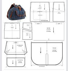 99478928 Black satchel bag - The 2 Left Hand - myriam- Sac besace noire – Les 2 Mains Gauches – myriam Black satchel bag – The 2 Lef. Backpack Pattern, Wallet Pattern, Backpack Tutorial, Denim Backpack, Denim Bag, Mochila Jeans, Modelista, Black Satchel, Satchel Bag