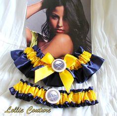 Buffalo Sabres Garter  wedding garter set by lolliecouture on Etsy, $50.00