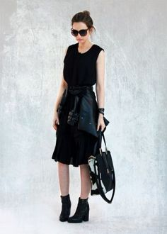 BLACK ON BLACK WITH BLACK by Lilissss on Fashion Click