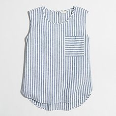 Factory striped shell top