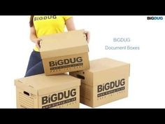 NEW BiGDUG Document Boxes with FAST BUILD DESIGN Loft Storage, Workshop Storage, Office Storage, Garage Storage, Storage Boxes, Storage Ideas, Document File, Shelving, Container