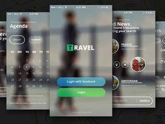 Free PSD Travel App #FreeAppDesign from http://ortheme.com