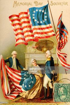 vintage-postcard-illustration-featuring-a-souvenir-of-memorial-day-in-picture-id514603930 (686×1024)