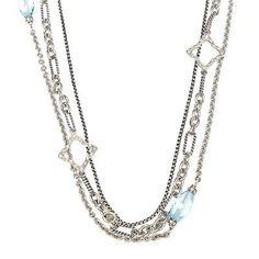 DAVID-YURMAN-Blue-Topaz-Diamond-Quatrefoil-Multi-Chain-Necklace-925-36=1,550.00<3
