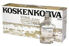 Koskenkorva 1953 viina - Aito kirkas - Valmistettu suomalaisesta ohrasta - Brännvin - Suomi - Finland - Kossu #viina #alkoholi #mainos Perm, Vodka Bottle, Drinks, Drinking, Beverages, Drink, Beverage