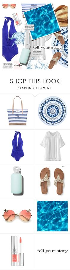 """""""Untitled #1404"""" by sibanesly ❤ liked on Polyvore featuring Kate Spade, Beach Lulu, WithChic, bkr, Aéropostale, Lancôme and Tim Holtz"""