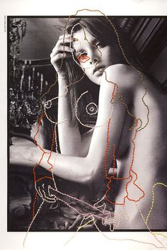 Photographer and embroiderer-extraordinaire Inge Jacobsen painstakingly recreates fashion magazine imagery with her needle and threads. Mixed Media Photography, Art Photography, Illustrations, Illustration Art, Magazin Covers, Fashion Magazine Cover, Montage Photo, Textiles, Art Design