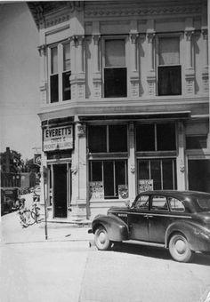 1948 Everett Hale's Pool Hall - Northwest corner Howard &  Mill Street, Pontiac, Illinois.