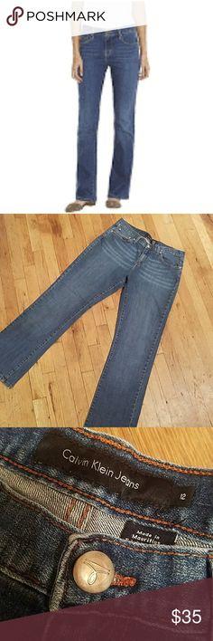 Calvin Klein Size 12 Like New See photos ♡ Inseam 31 Waist flat approx 16in Calvin Klein Jeans Jeans Straight Leg
