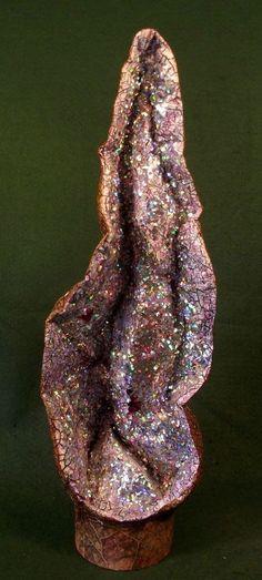 Faux Crystal Geode Amethyst Church Fairy Cave Cavern Unicorn Dragon Droppings