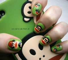 Paul Frank nails, based on my awesome phone case.  For more photos and information click the photo :)