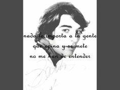 Sandro Quiero aprender de Memoria con parte del poema de el seminarista de los ojos negros