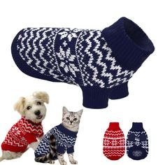 PET BONITO: Soft Sweater Puppy Dog Cat ~ Warm Winter Clothes Pets ~ Small Medium Dogs Chihuahua Cats  #petbonito #loveyourpet