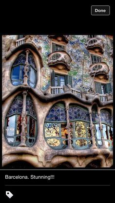 Amazing architecture by Gaudi in Barcelona, Spain. It's so amazing that every time you look at it, you see something different. From iron worker to architectural artist, was he crazy? Genius? Or both?
