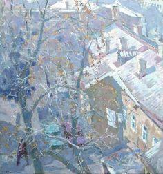 Каминский Эммануил Абрамович (1927 - 2009) «Одесса. Дворик Дома Художников. Вид из окна мастерской»