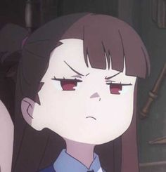 Little Witch Academia Otaku Anime, Anime Guys, Manga Anime, Anime Art, Kawaii Anime Girl, Icons Girls, Anime Meme Face, My Little Witch Academia, Anime Faces Expressions