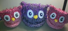 Knifty Knitter Owl Hats!  I made myself!