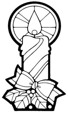 Coloring Page Christmas Candle Easy Free Pages For